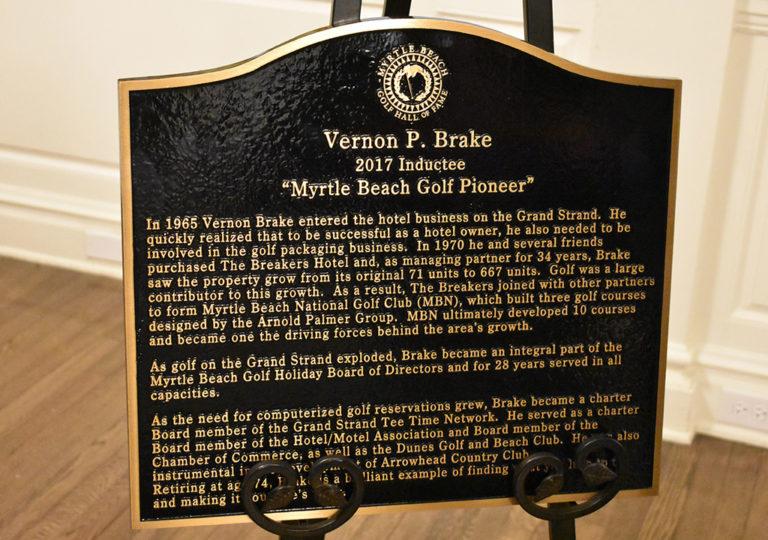 Vernon Brake Plaque