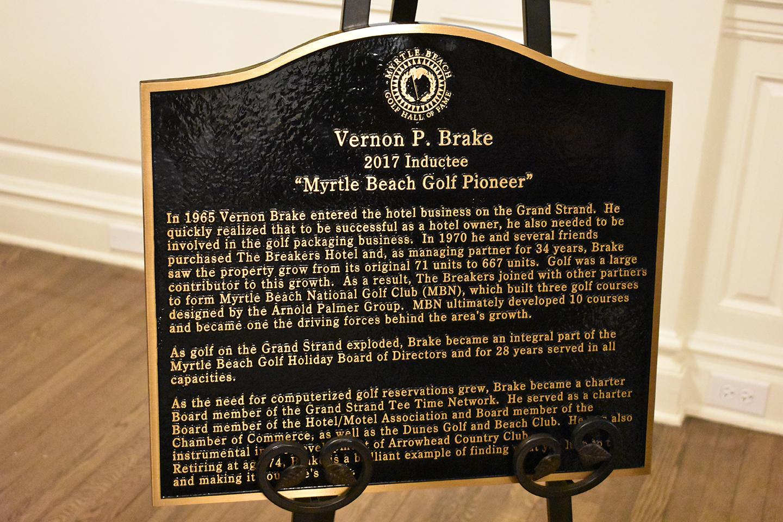 Vernon Brake Award